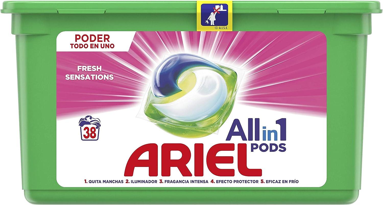 Ariel Todo en Uno Pods, Rosa Fresca Detergente en Cápsulas 38 Lavados, con Lavado a 20 °C y Perfume Duradero: Amazon.es: Salud y cuidado personal