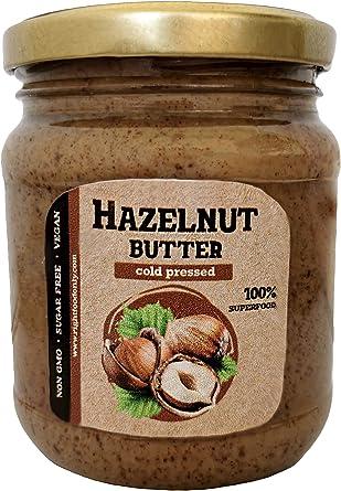 Mantequilla de Avellana Urbech RAW 8 oz (230gr) - Crema Vegana Saludable - Proteína 13g - Sin OMG - Keto - Sin Azúcar Añadido - Sin Aceite - Bajo en ...