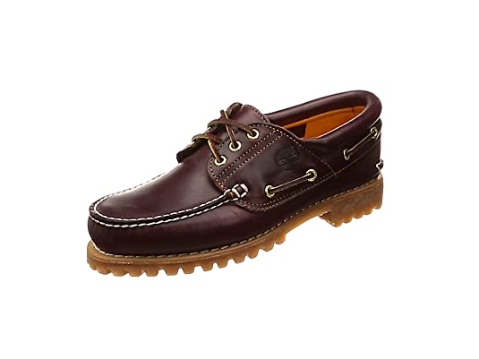 Timberland Authentics 3 Eye Classic, Mocasines para Hombre, Marrón (Burgundy Pull Up)
