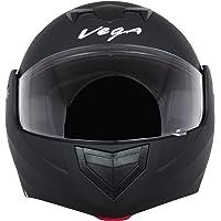 Vega Crux DX Flip-Up Helmet (Dull Black, L)