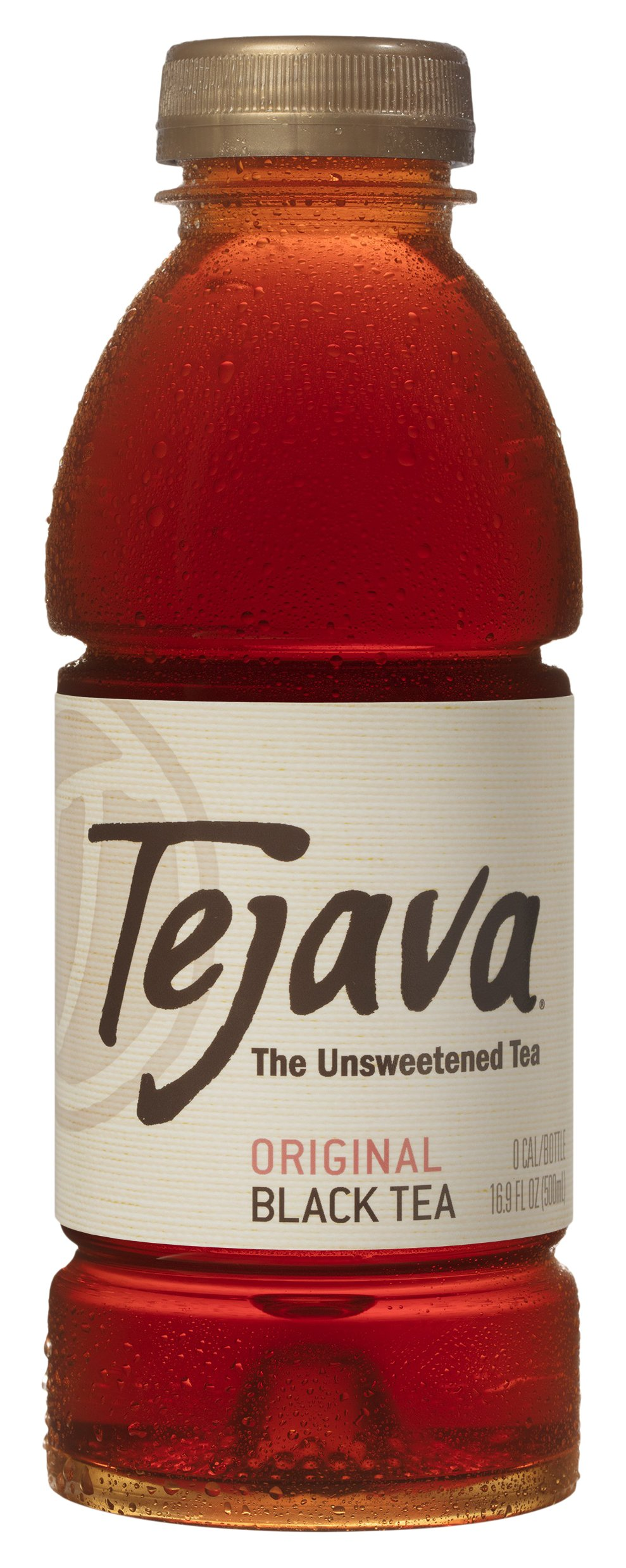 Tejava Original Unsweetened Black Iced Tea, 16.9 Ounce, 12 Count