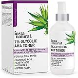 Glycolic Acid Toner 7% with Vitamin C - Pore Minimizer, Blackhead & Brightening Treatment - AHA Exfoliating Astringent - Skin