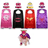 Jneglo Mantelle supereroe per bambini–include Spidergirl, Batgirl, Supergirl and wonder Woman