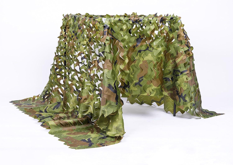 NINAT camo Netting Oxford 210D Camouflage Net Per Campeggio Militare Caccia Sunscreen Reti, Woodland1.5x4m