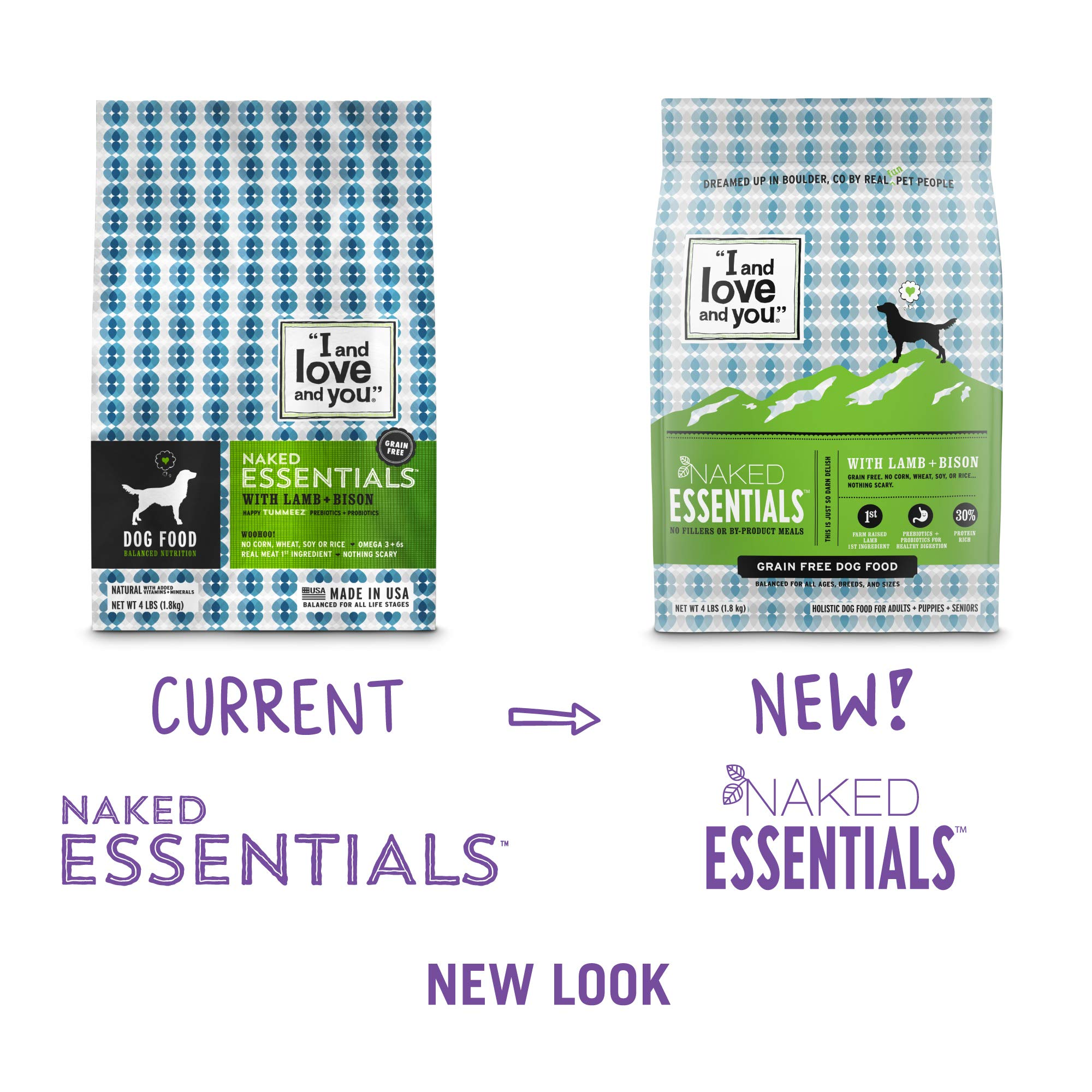 ''I and love and you'' Naked Essentials Lamb & Bison Grain Free Dry Dog Food, 40 LB by I and love and you (Image #3)