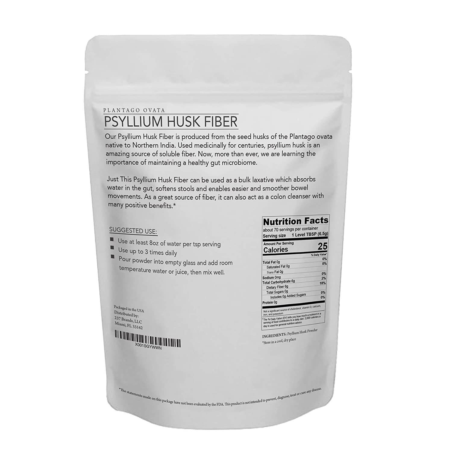 Fine Natural Psyllium Husk Fiber Powder Premium Soluble Fiber Supplement And Prebiotic Simply Mix With Water Or Use In Baking To Aid Constipation And Spiritservingveterans Wood Chair Design Ideas Spiritservingveteransorg