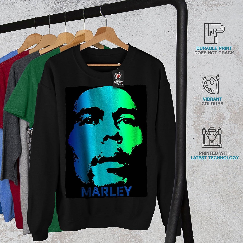 wellcoda Ganja 420 Rasta Mens Sweatshirt Peace Casual Jumper