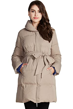 58a29acf9e9 Sweet Mommy Maternity and Baby Wearing Down Coat at Amazon Women's ...