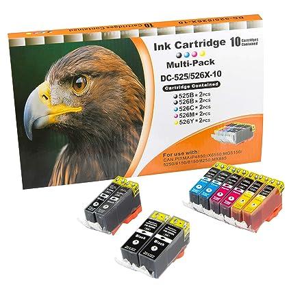 10 compatibles. Cartuchos de Tinta con Chip para impresora Canon ...