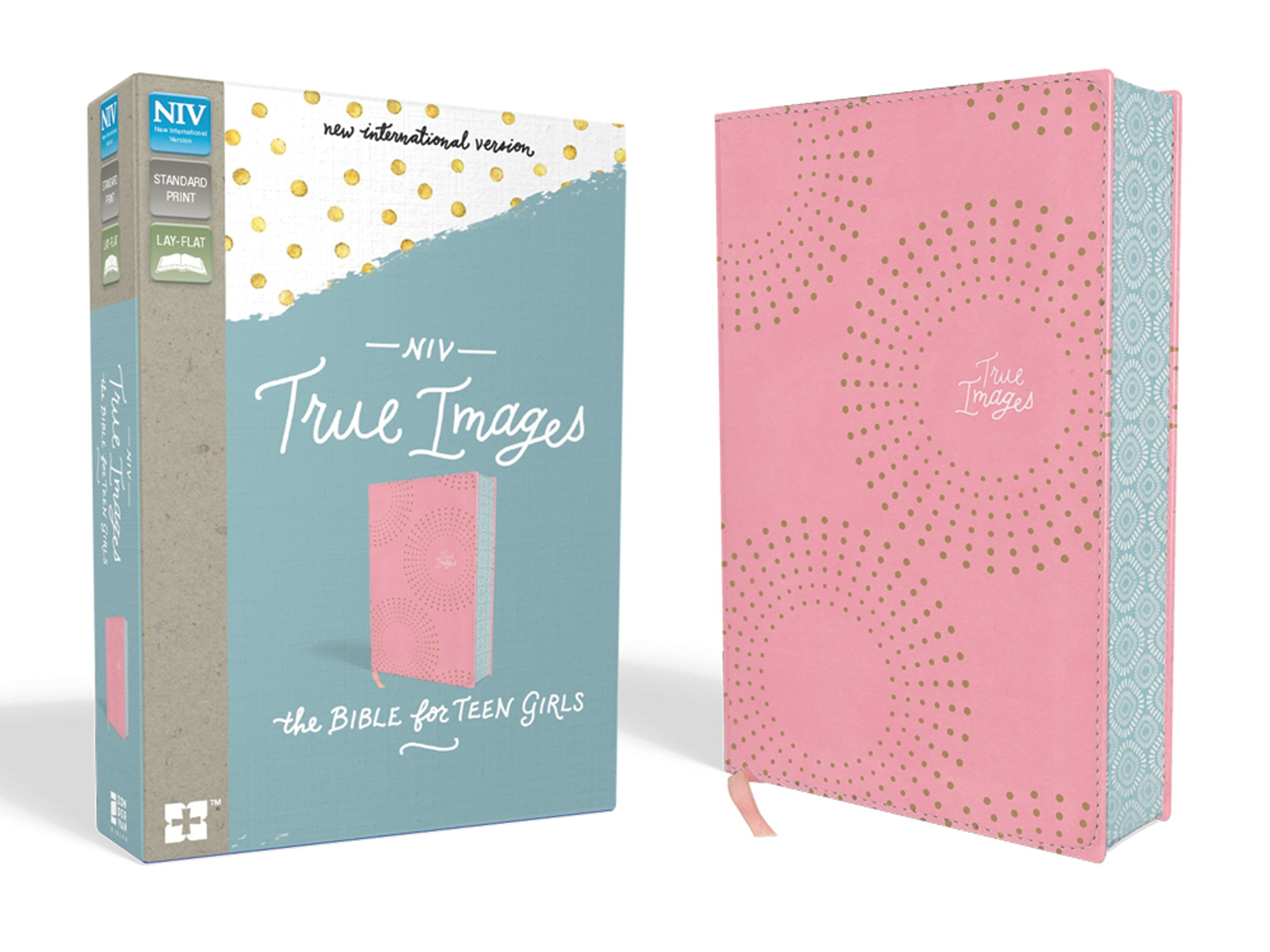 NIV, True Images Bible, Leathersoft, Pink: The Bible for Teen Girls ...