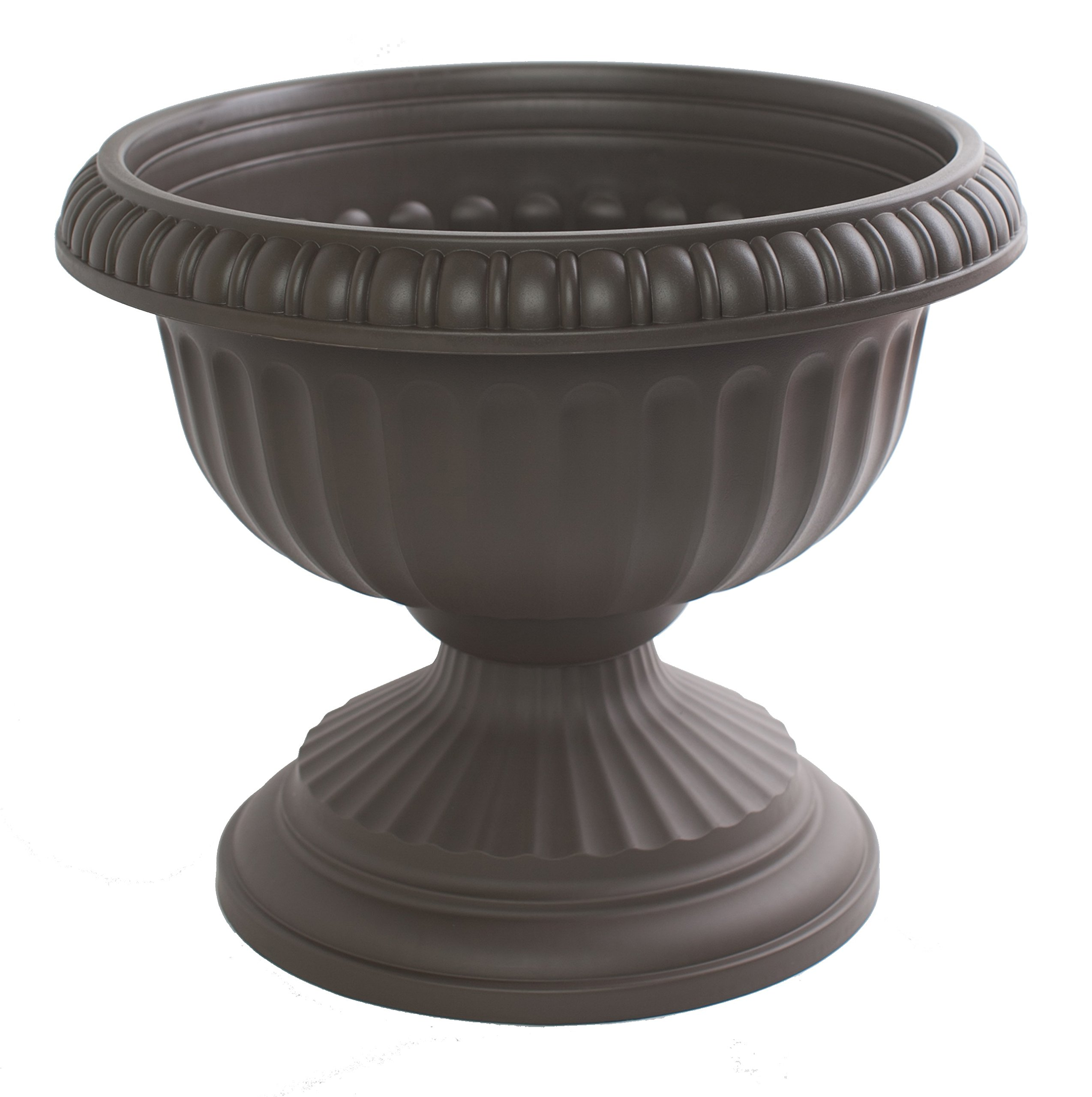 Bloem Grecian Urn Planter, 12'', Peppercorn by Bloem