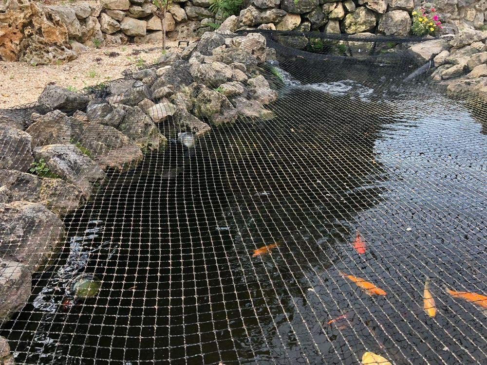 Ironhorse Teichnetz Pool Schutzh/ülle Koi Fischteich Schutz Geflecht Netze