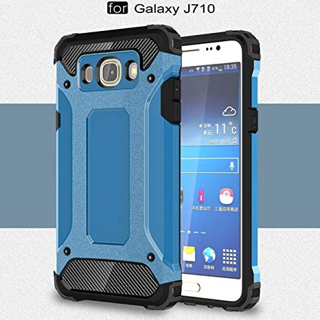 LXHGrowH Funda Samsung Galaxy J7 (2016), Fundas 2in1 Dual Layer Anti-Shock 360° Full Body Protección TPU Silicona Gel Bumper y Duro PC Armadura ...