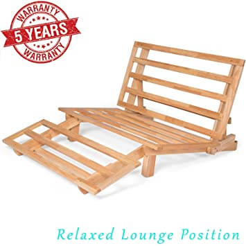 Amazon.com: Nirvana Futons Tri-Fold Wood Futon Frame Full Size Sofa ...