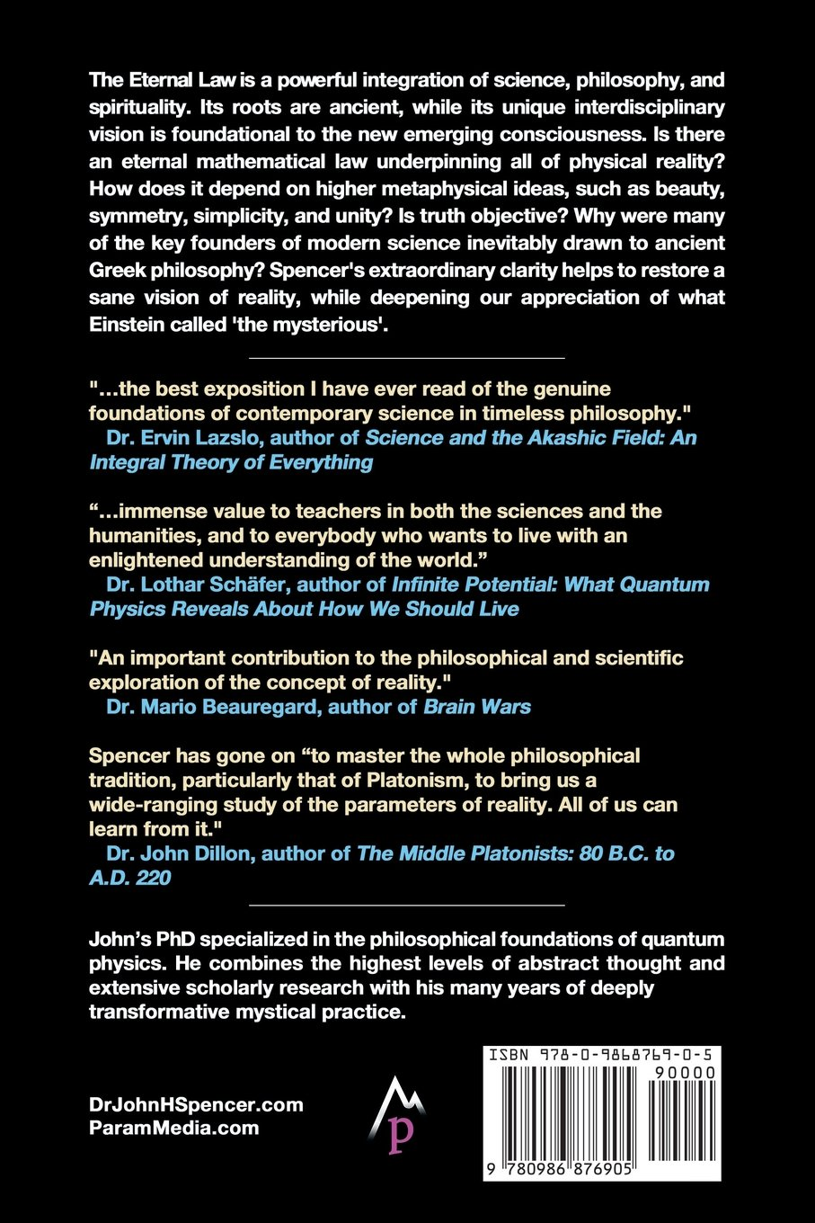 The eternal law ancient greek philosophy modern physics and the eternal law ancient greek philosophy modern physics and ultimate reality john h spencer 9780986876905 amazon books fandeluxe Choice Image