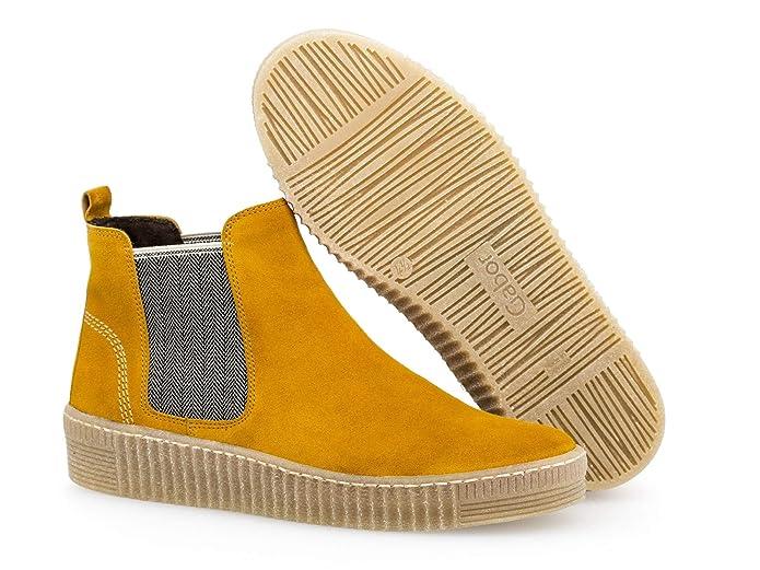 Gabor Damen Chelsea Boots 33.731, Frauen StiefeletteRöhrli,Stiefel,Halbstiefel,Bootie,Schlupfstiefel,flach,Herbstbeige(Natur,35.5 EU 3 UK
