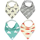 "Baby Bandana Drool Bibs for Drooling and Teething 4 Pack Gift Set For Boys and Girls ""Aztec Set"" by Copper Pearl"