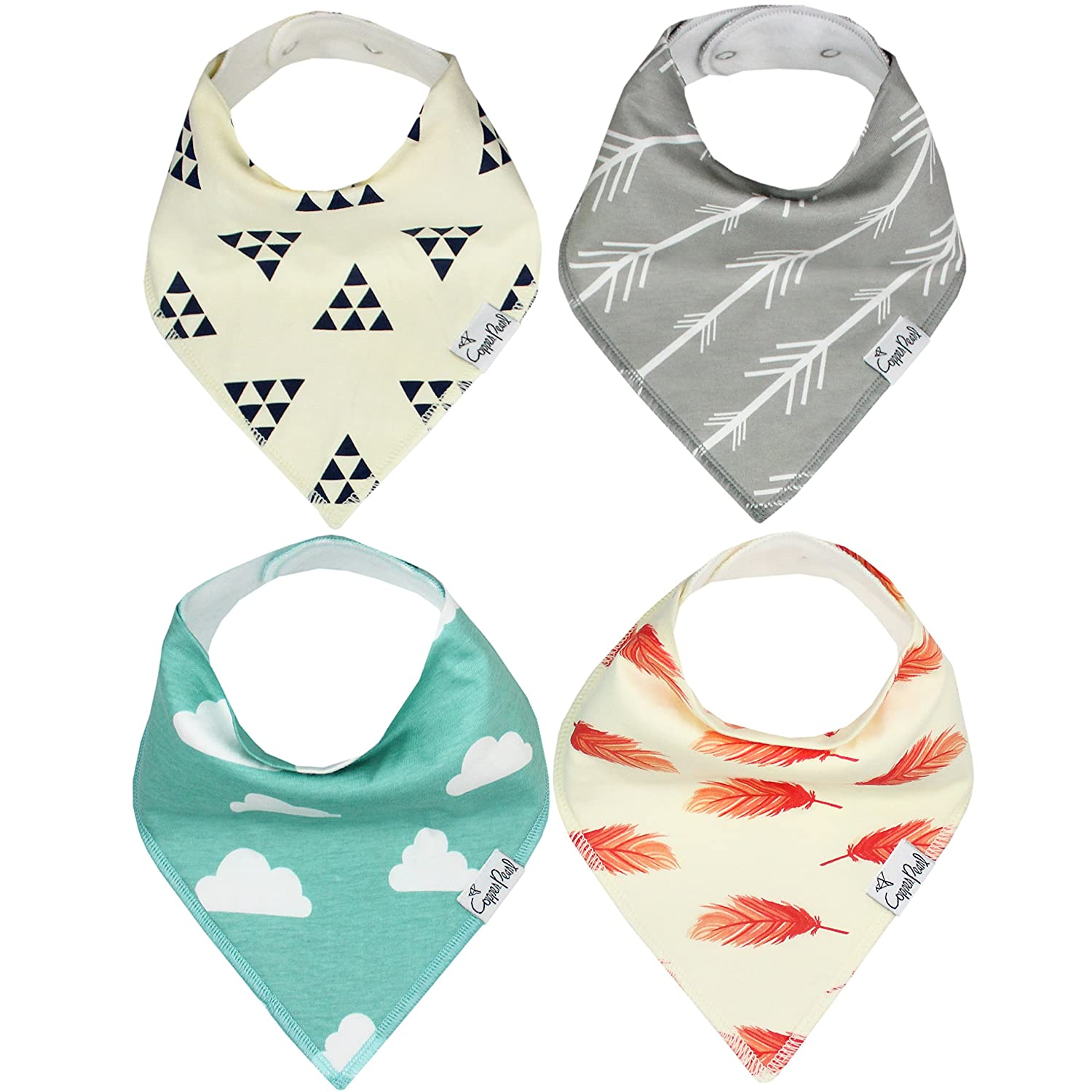Baby Bandana Drool Bibs for Drooling and Teething 4 Pack Gift Set