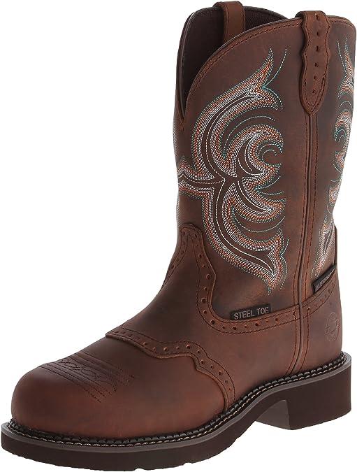 steel toed cowboy boots women - justn women