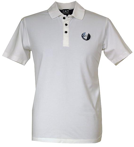 Armani EA7 Polo para Hombre s273783 Blanco: Amazon.es: Ropa y ...