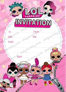 Unique Party 79124 Invitaciones Amazon Es Juguetes Y Juegos