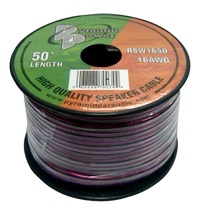 Pyramid Car Audio RSW12100 30.48m Transparente Cable de Audio - Cables de Audio (30,48 m, Transparente): Amazon.es: Electrónica