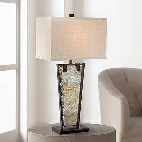 Amazon.com: Zion Slate cónicos lámpara de mesa: Home Improvement