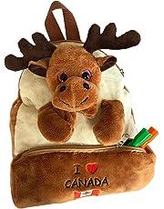 3D Kids Toddler Plush Animal Backpack Shoulder Bag with Pencil Case and Soft Adjustable Shoulder Straps (Moose)