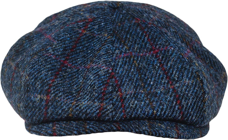 Children Boys Girls Flat Cap Tweed Check Herringbone Peaky One Size Hat Hot Item