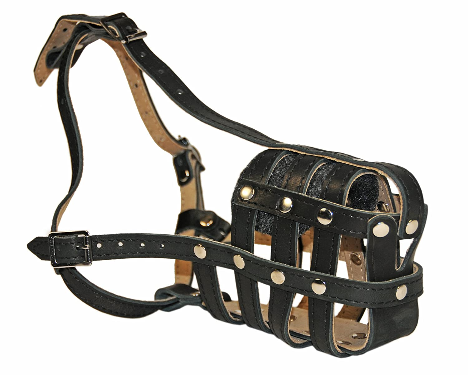Dean & Tyler D & T M Royal LB bk-tn EB1 English Bulldog Royal Basket Leather Muzzle, ampio, nero Tan