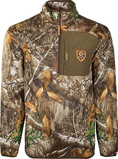 562f1c293c97f Drake Waterfowl Endurance 1/4 Zip Jacket with Agion Active Men's, Realtree  Edge (