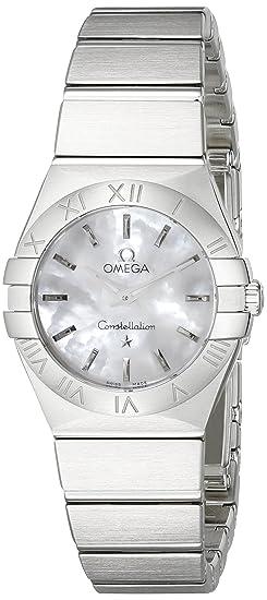 Omega 12310246005001 Constellation de la mujer cuarzo analógico Swiss Plateado Reloj