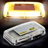 AMBOTHER Amber COB LED Strobe Emergency Hazard Warning Light High Intensity Top Roof Law Enforcement Mini Car Truck Lights Bar Waterproof 18W with Magnetic Base