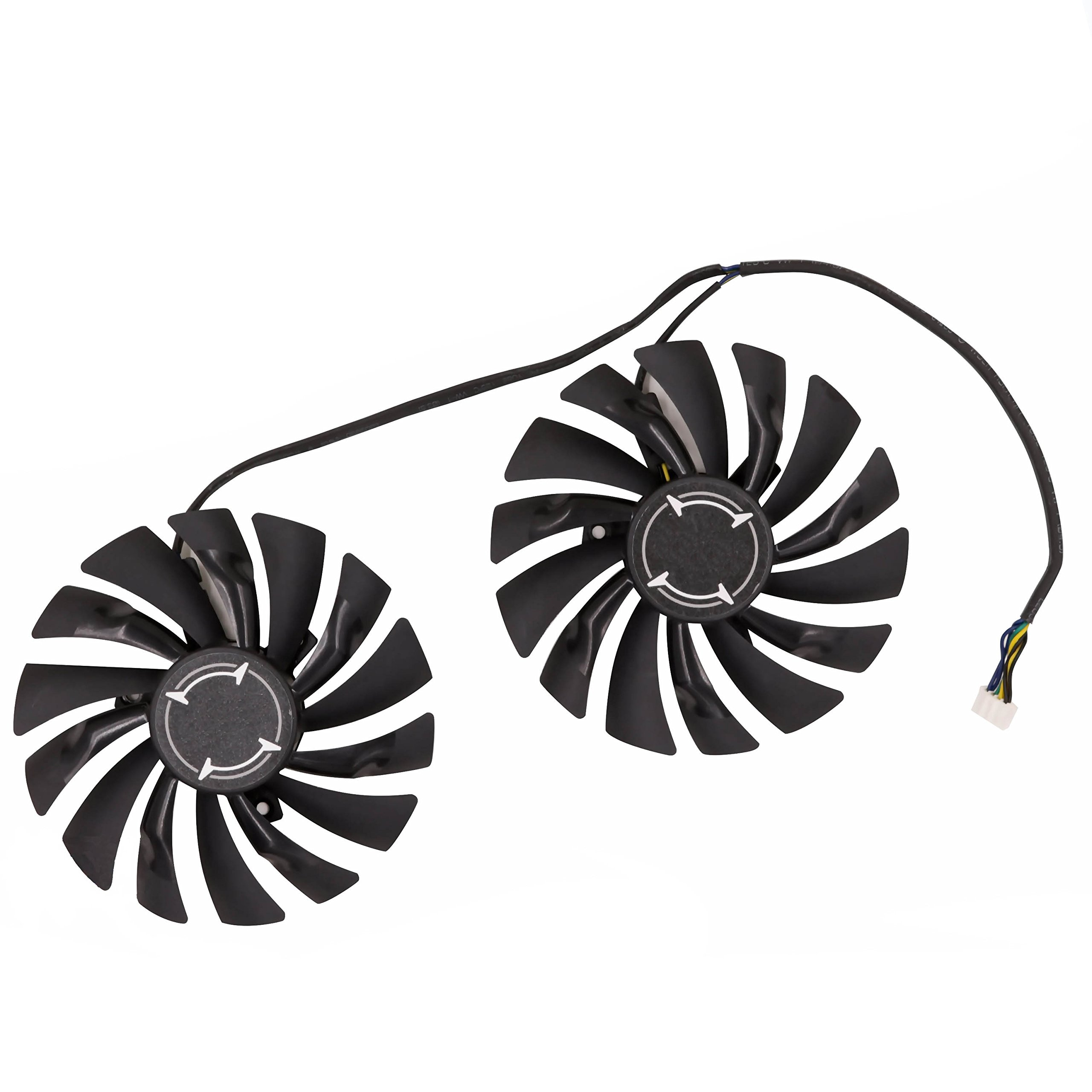 Replacement Graphics Card Cooling Fan for MSI GTX 1080 GTX 1070 GTX 1060 RX 580 RX570 Armor Video Card Cooler Fan DC 12V 0.4A 4Pin by Tebuyus