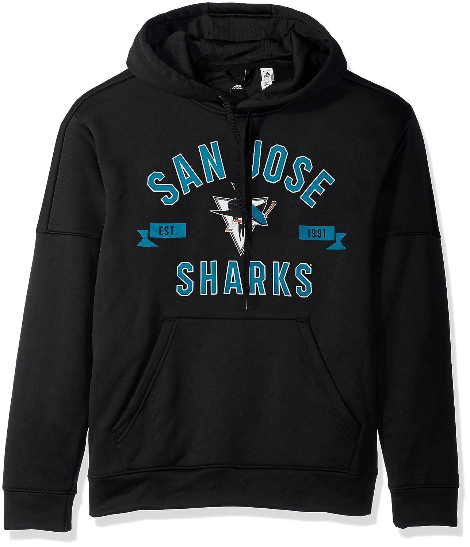 adidas San Jose Sharks NHL Felpa con Cappuccio Teal: Amazon