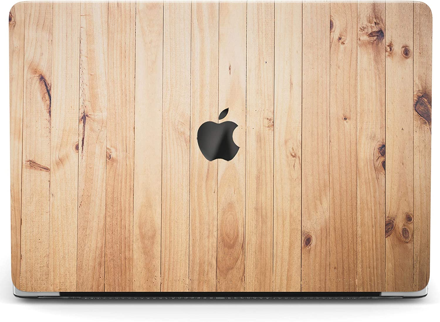 Wonder Wild Case for MacBook Air 13 inch Pro 15 2019 2018 Retina 12 11 Apple Hard Mac Protective Cover Touch Bar 2017 2016 2020 Plastic Laptop Print Light Wood Bamboo Vertical Nature Planks Pattern