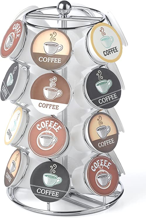 Holds 35 K-Cups in Black K-Cup Carousel