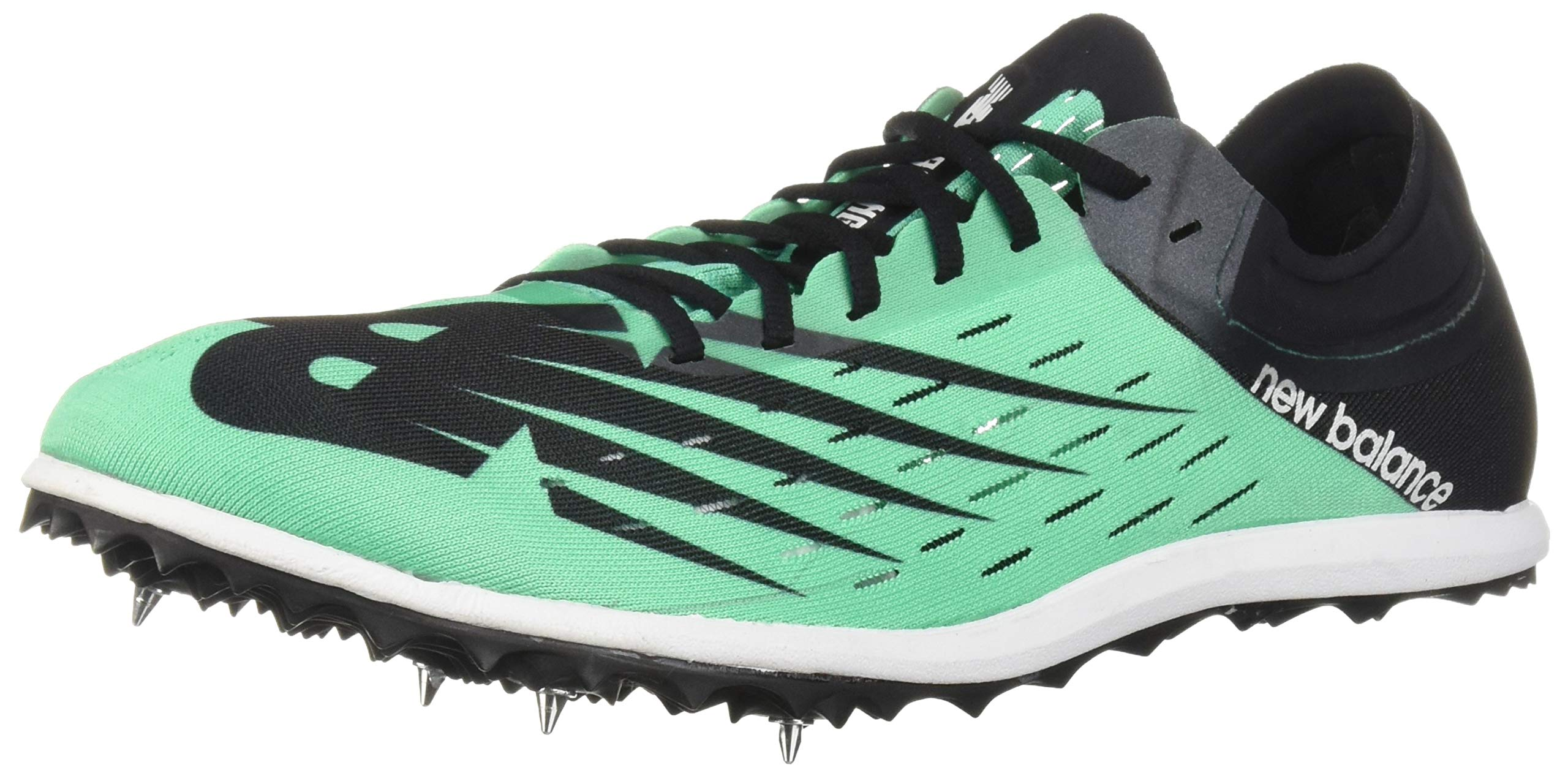 New Balance Men's 5K V6 Track Shoe, neon Emerald/Black 8.5 D US