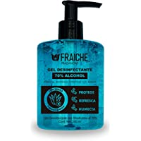 Gel Antibacterial Fraiche con 70% alcohol, Azul, 300 ml