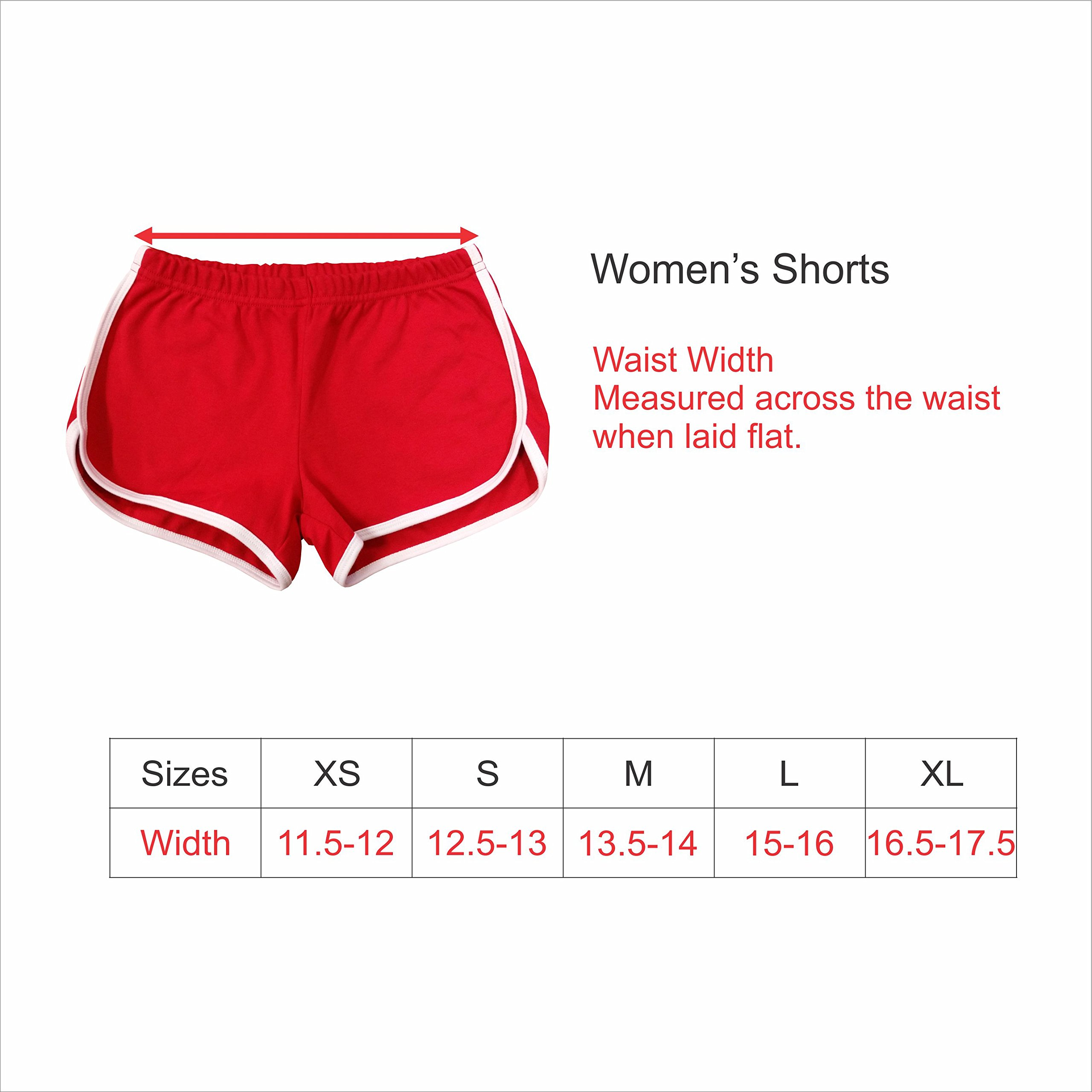 Women's Lifeguard Shorts, Front Blank, Back Only, Arched text by The All Stop Shop (Image #3)