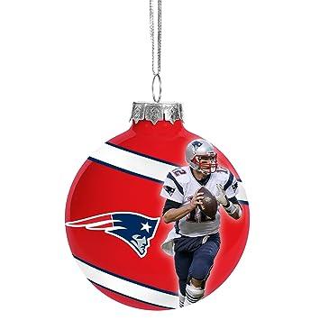 New England Patriots Tom Brady #12 Glass Ball Christmas Ornament - Amazon.com : New England Patriots Tom Brady #12 Glass Ball Christmas