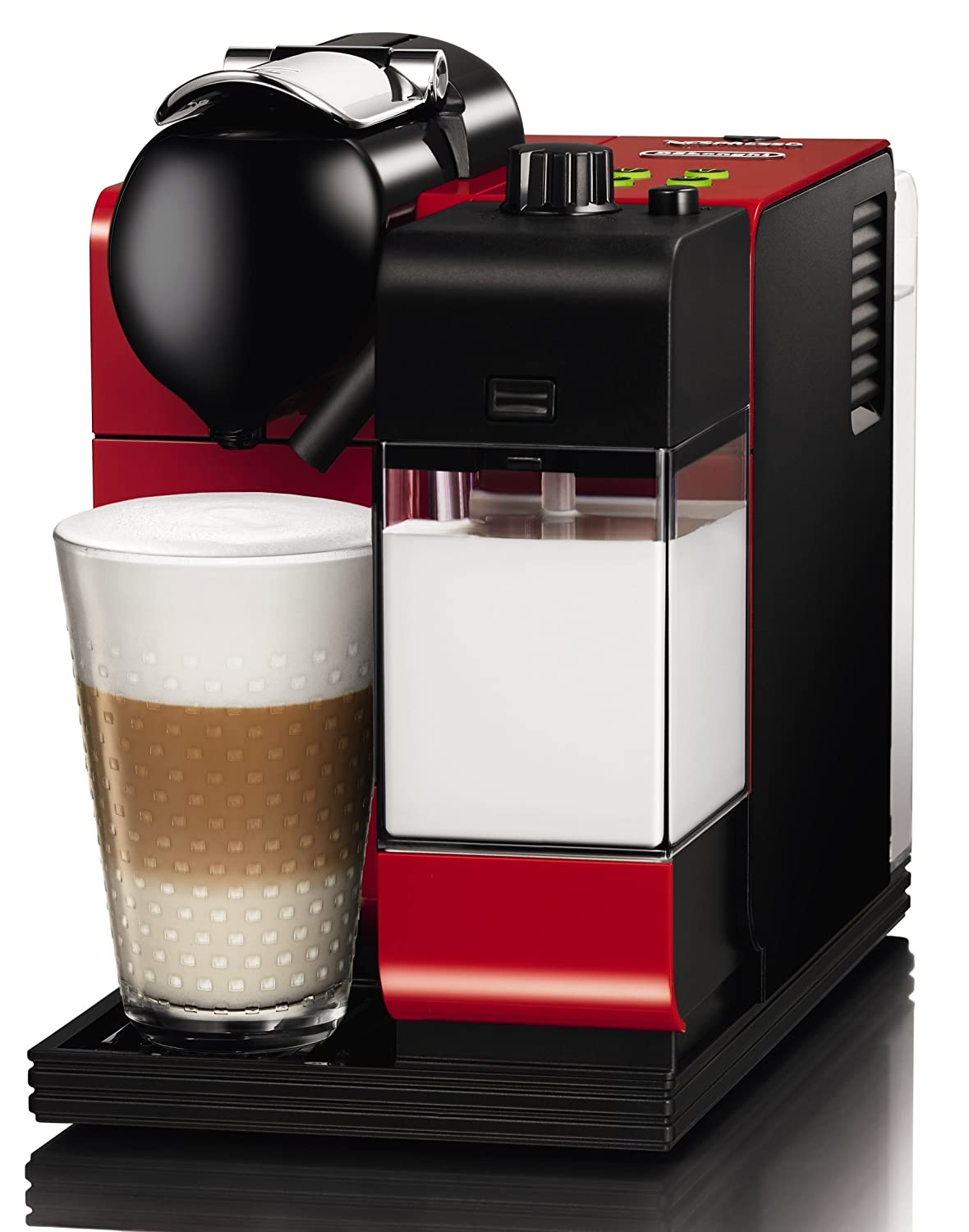 delonghi en520 r nespresso lattissima plus coffee maker red 2. Black Bedroom Furniture Sets. Home Design Ideas