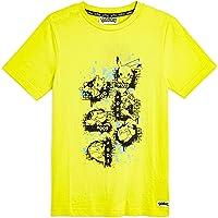 Pokèmon Camiseta Niño Amarilla de Manga Corta,