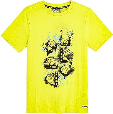 Pokèmon Camiseta Niño Amarilla de Manga Corta, con Pikachu Mewtwo Blastoise Psyduck Charizard Venusaur, Ropa Niño Camisetas de Algodón 100%, Regalos para Niños Adolescentes: Amazon.es: Ropa y accesorios