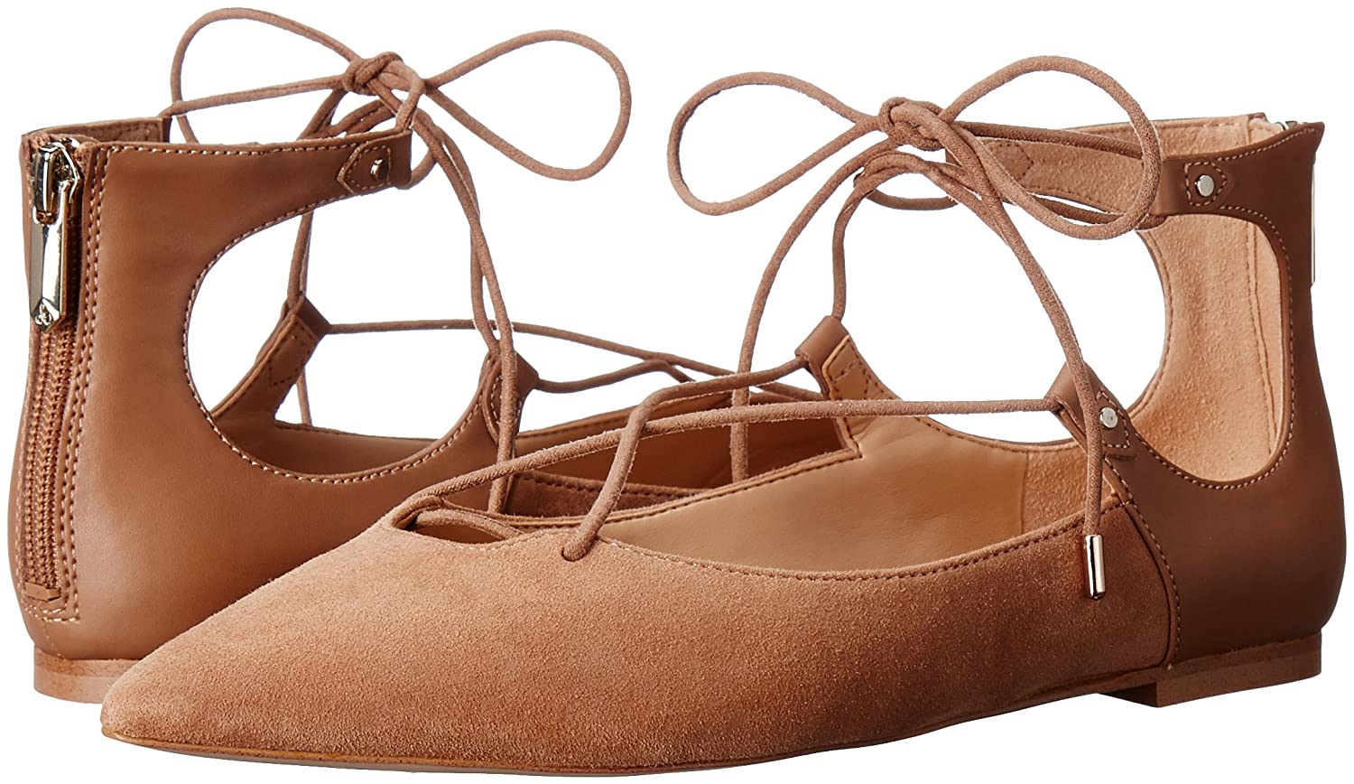Sam Edelman Women's Rosie Pointed-Toe Flat B01AYK0P64 8 B(M) US|Golden Caramel