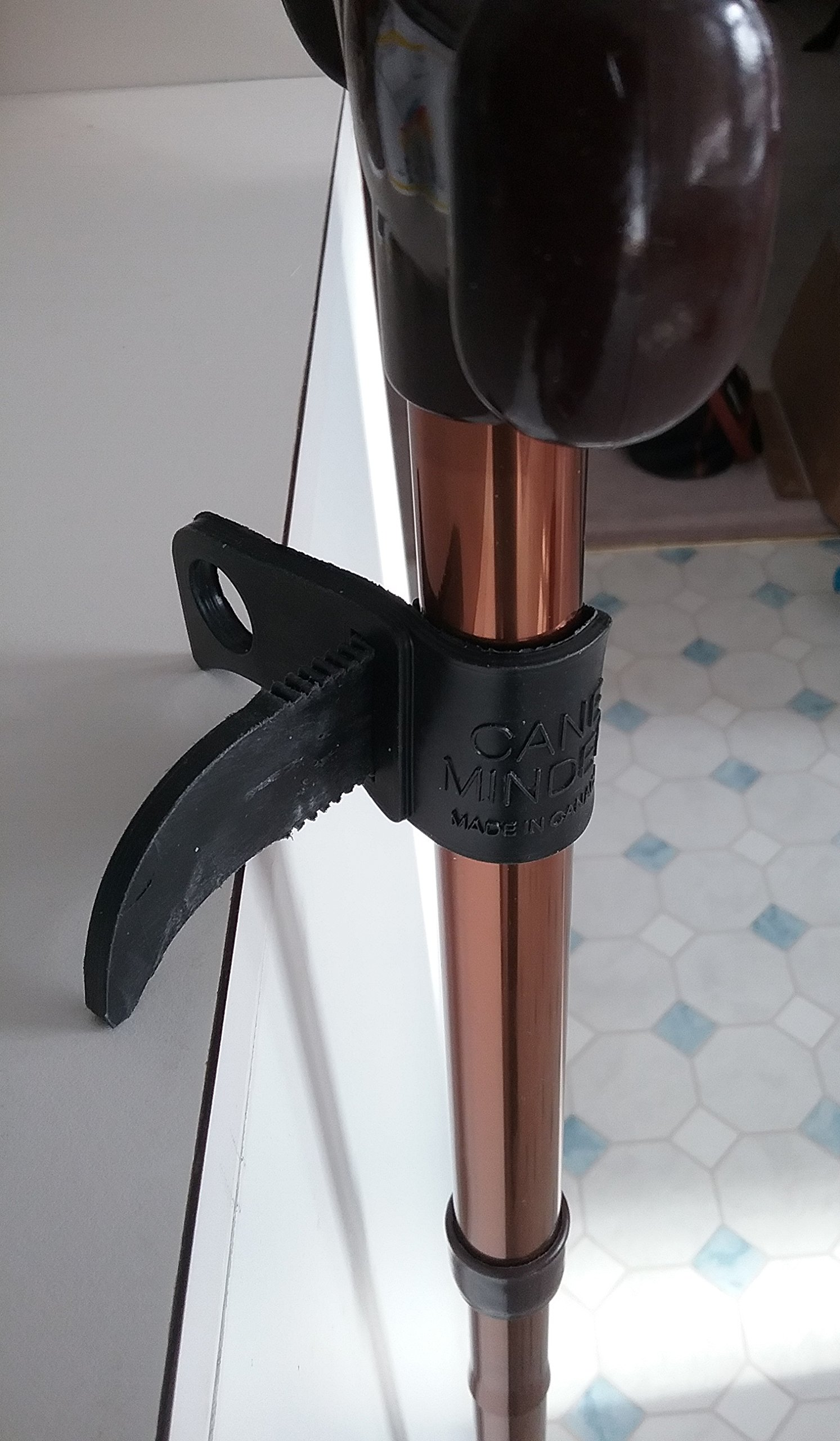 Cane Minder-New-Improved-The best most useful and versatile cane holder accessory. Stop your cane from falling to the floor!