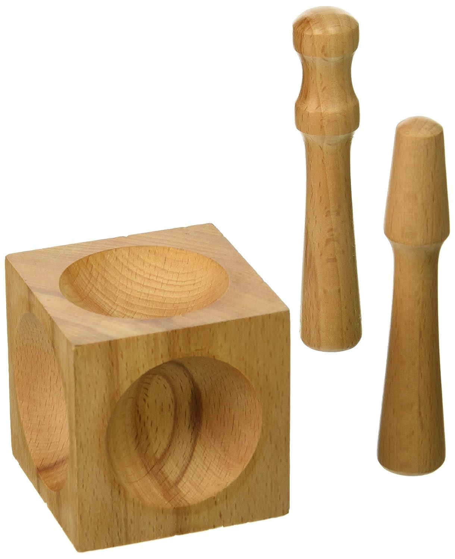 Beadsmith-Blocco Doming DMW1 legno, 5,7 x 5,7 x 5,7 cm