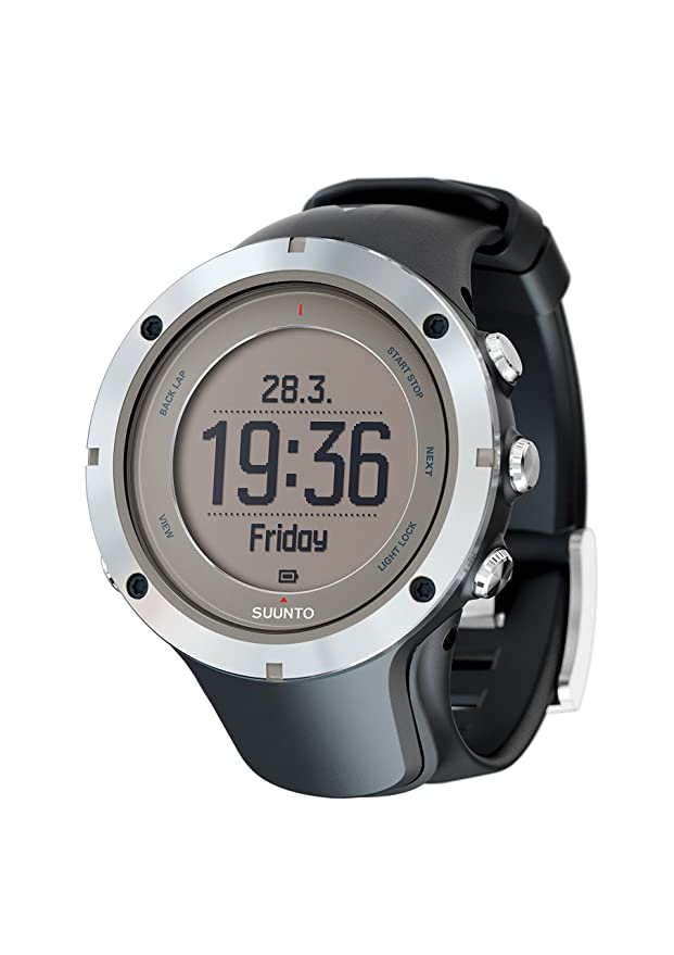 SUUNTO RELOJ DE HOMBRE CUARZO 40MM CORREA DE GOMA CAJA DE ACERO SS020676000: Amazon.es: Relojes
