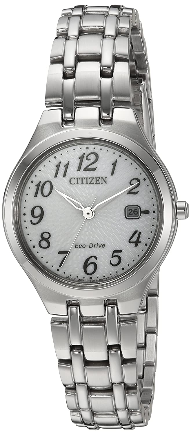 Amazon.com: Citizen Womens Eco-Drive Quartz Stainless Steel Casual Watch, Color:Silver-Toned (Model: EW2480-59A): Watches