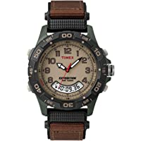 Men's T45181 Expedition Resin Combo Brown/Green Nylon Strap Watch